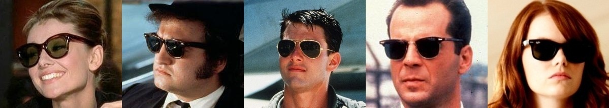 очки Ray-Ban на лицах киноголивудских звезд