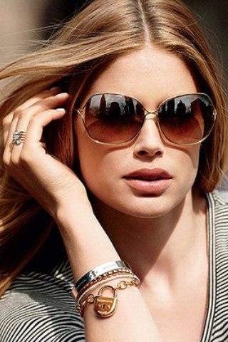 Солнцезащитные очки унисекс и бабаочка для круглого лица